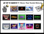Top 13 Favorite Tv Shows That Needed Reboots Meme  by Shark-Demon