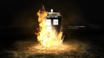 Doctor Who 50th - Time is running out (Tardis) by dj-corny
