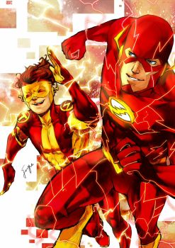 N52TheFlash and KidFlash by onlyfuge