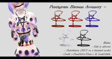 [MMD] Pentagram Harness Accessory DL ~ by o-DSV-o