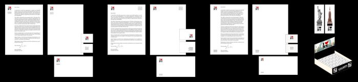 I love NY: Letterheads, cards, envelopes, stamps by UmbrellaFighter