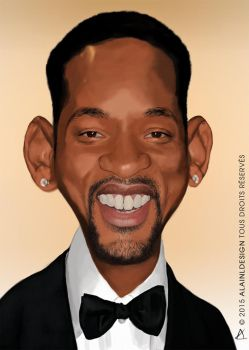 Affiche caricature Will Smith by LaurentAlain