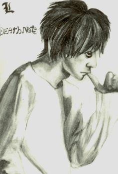 L - Death Note by Lil-bits