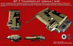 BT-7 Thunderclap assault ship ortho [1][New] by unusualsuspex