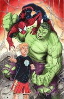 Spider-Man and Hulk Commission by KileyBeecher