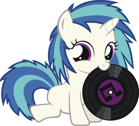 Filly Vinyl Scratch With A Record In Her Mouth by Phoenix0117
