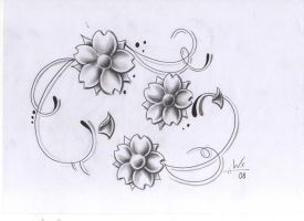 tattoo design flowers by WillemXSM