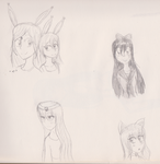 Doodles of old OCs by Icey-chan