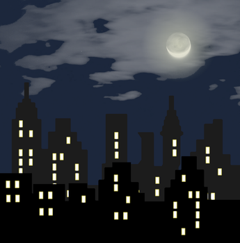 Night Cityscape by Elvelon