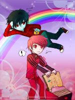 Prince Gumball and Marshall lee by isette