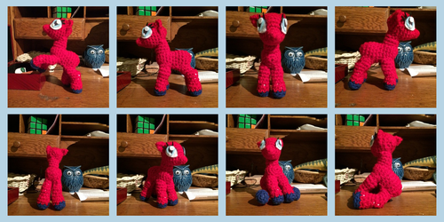 Posable Crochet Pony WIP Pics by zomgmad