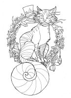 Puuurrfect time for tea lineart by Namtia