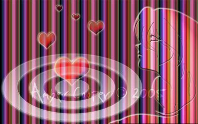 Cotton Candy Heart Target by KianteWench