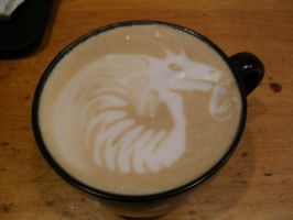 Side Dragon Latte by MonkDrew