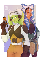 [SW Postcard] - Hera Syndulla and Ahsoka Tano by Chyche