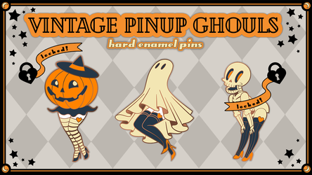 Vintage Pinup Ghouls Campaign Banner by redredundance