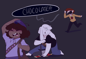 Chara this isn't how you make friends by Channydraws