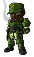 Chibi Sgt Avery J. Johnson by GuyverC