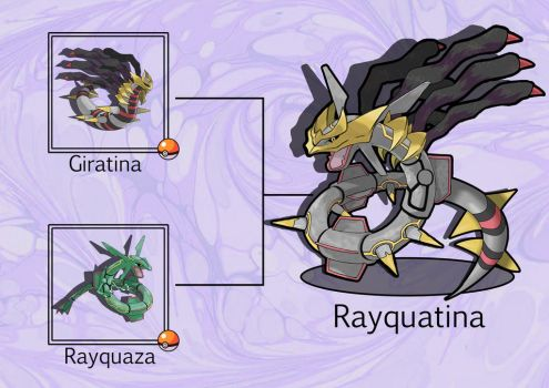 PokeFusion: Rayquatina by JT-PokeKa