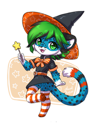 Kawa the little witch by AnnetPeas