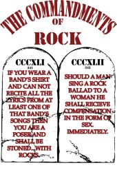 Commandments of Rock by Grains-Redsand