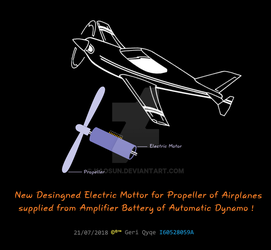 new electric motor for airplane by Kaosun