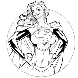 DC hotties: Supergirl by guinnessyde