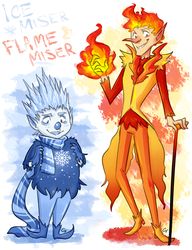 Ice Miser and Flame Miser by Angel-soma