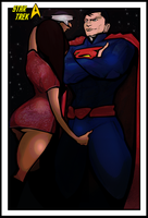 Superman Vs Star Trek by CandyAppleFox