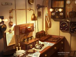 Wireless room of Titanic by novtilus