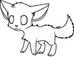 Paint friendly Puppy/kitten base - FREE to use by IvonChee