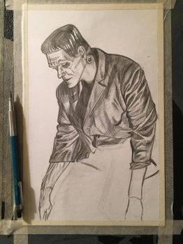 Daily Sketch: Frankenstein Study 03.14.17 by JRMurray76