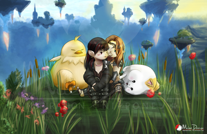 FFXIV Commission : Minerva  and Ramrodicus by Milee-Design