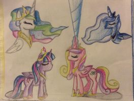 The princesses by sweetiebelle44