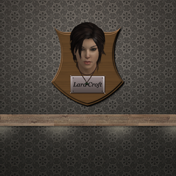 Trophy Plaque - Lara Croft by DeliciousVGBabes