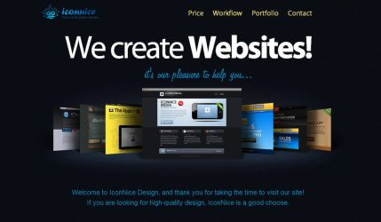 We create Websites by iconnice