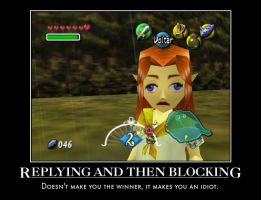 Replying and Blocking by Awesome-Troll