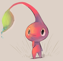 red pikmin doodle by ChocoChaoFun