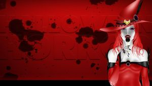 Halloween Wallpaper - Vampire Witch with Lollypop by CauseThought