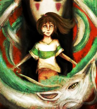Spirited Away by Checker-Bee