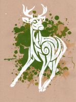 Patronus Print - Young Stag by cjkennedy