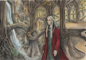 Thranduil in the Mirkwood Halls by AnotherStranger-Me