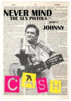 Johnny Cash Punk by Evlisking