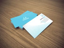 halftone business card by Lemongraphic