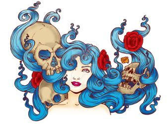 Roses and Skulls by carlinx
