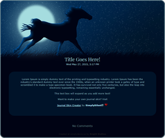 Moonlight Horse Journal Skin by Bright-Button