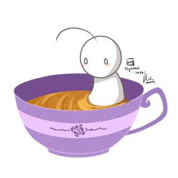 Tea cup cry by CottonCatRie