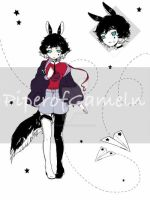 [CLOSED] Adoptables Auction 76 - Black Rabbit by PiperOfGameln