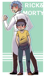 Rick and Morty by FeathersofDarkness14
