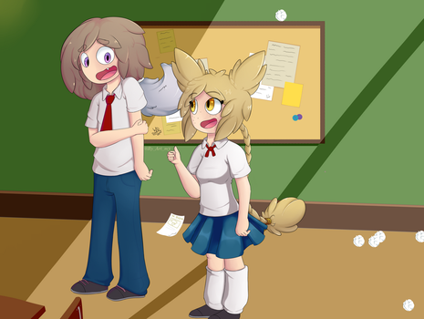 On the classroom by wolfgray168